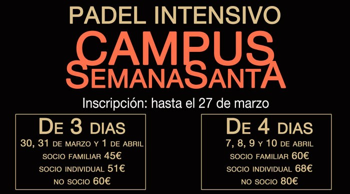 Campus Semana Santa 2015 en Pádel Derio