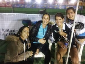 Equipo femenino de Pádel Derio en Valladolid