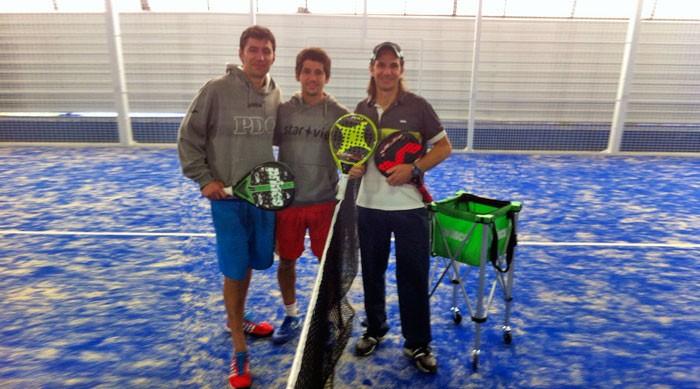 Entrenamiento de Jaime Bergareche en Padel Bizkaia con los profesores Pablo Andrés y Eduardo Simal