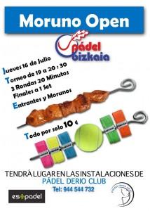 Cartel del Moruno Open de Pádel Bizkaia, que se celebra en Pádel Derio