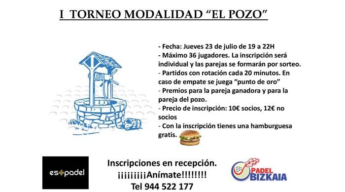Pádel Bizkaia acoge el primer torneo modalidad 'El Pozo'