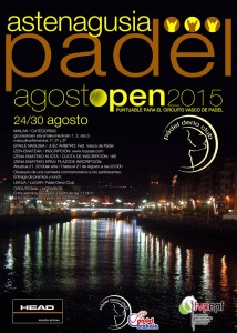 Pádel Derio cartel Open Aste Nagusia 2015