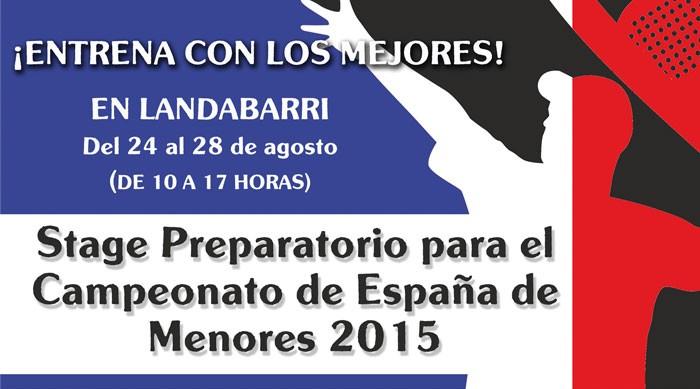 Stage preparatorio en Pádel Bizkaia para el Campeonato España Menores 2015