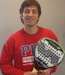 Pablo Andres, monitor en Pádel Derio Club